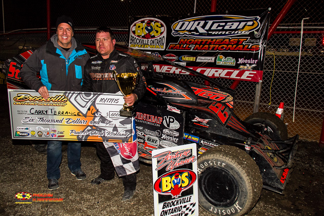 CAREY TERRANCE BLOWS AWAY THE FIELD FOR BROCKVILLE SUPER DIRTCAR SERIES WIN