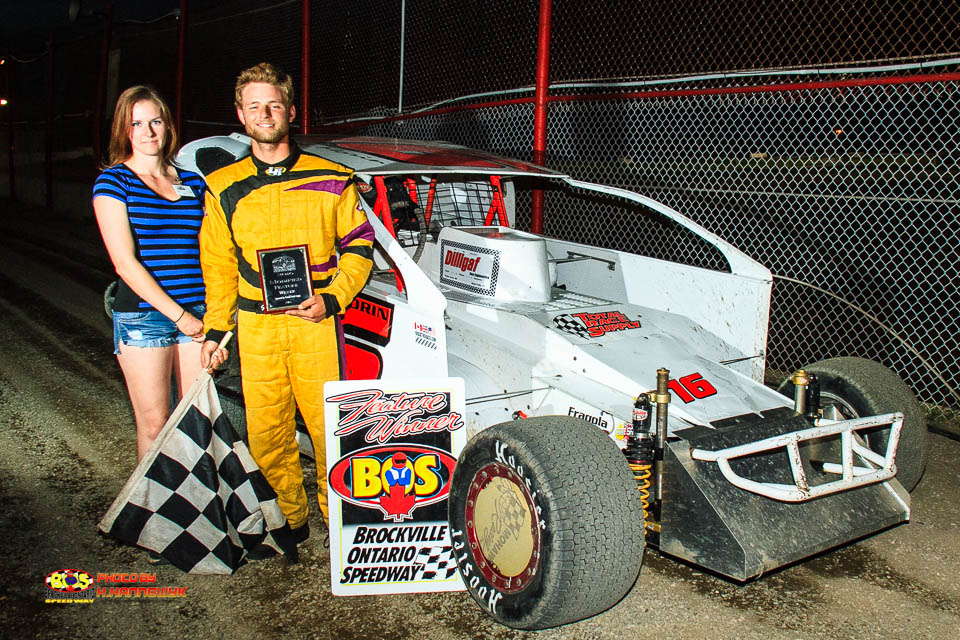 GAGE MORIN STORMS TO BROCKVILLE 358 MODIFIED VICTORY LANE