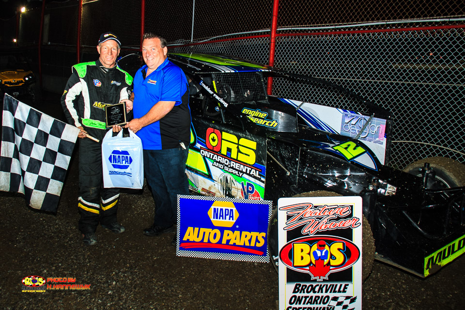 JOHN MULDER ENDS 11 YEAR DROUGHT WITH 358 MODIFIED VICTORY AT BROCKVILLE