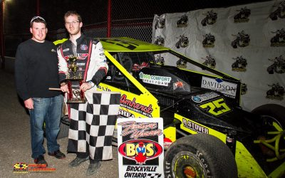 Bobby Herrington Ends Year Long Drought with 358 Modified Win at Brockville
