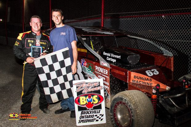 CHRIS HERBISON LANDS FAMILIAR COLORS BACK IN BROCKVILLE VICTORY LANE