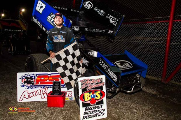 BARNEY TAKES PATRIOT SPRINT TOUR WIN AT BROCKVILLE; MORIN TAKES VICTORY LANE IN DOMINANT FASHION