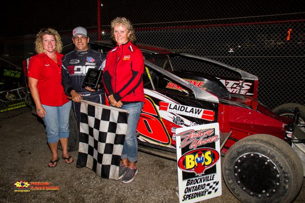 DALE PLANCK STORMS TO 358 CHECKERS AT BROCKVILLE ON CHAMPIONSHIP NIGHT