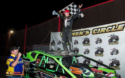 Draper Notches First Brockville 358 Modified Checkered Flag in Dominant Form