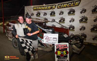Herbison Hustles to Victory at Brockville Ontario Speedway