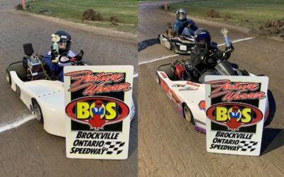 Menard and Dinelle Notch Season Firsts as Brockville Karting Kicks into High Gear
