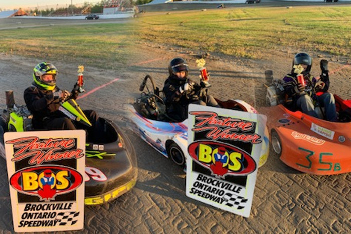 CRAWFORD SCORES THIRD IN A ROW, LADOUCEUR GETS FIRST EVER WIN AT THE B.O.S. KART TRACK ON A HOT NIGHT THAT CHALLENGED MANY!