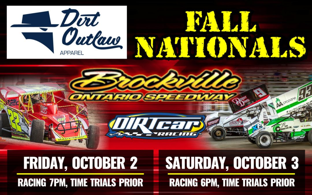 Dirt Outlaw Apparel Fall Nationals Scheduled for October 2 & 3