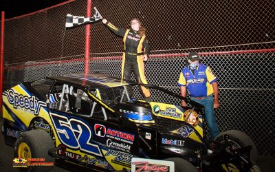 Power Wins Brockville Sportsman Thriller with Last Lap Pass Bernier Scores First Brockville 358 Modified Checkered Flag