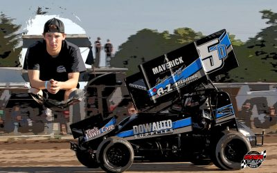 Jacob Dykstra outruns the field and Mother Nature for Brockville Crate Sprint Car feature win