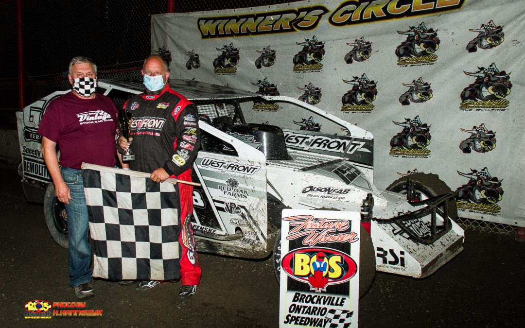 Slim chance for Brockville 358 Modified field, Brian McDonald dominates for first win of 2021