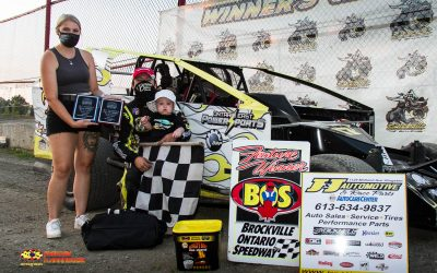 Draper and Brown sweep 358 Modified and Mini Stock events at Brockville